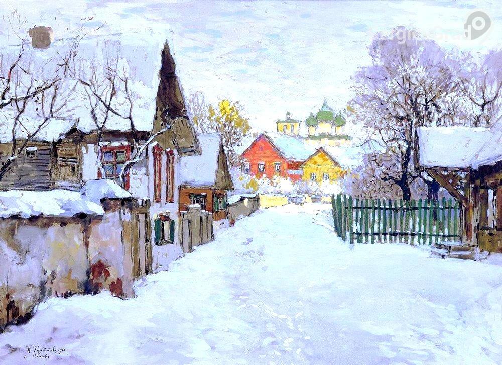 картина Зимний вечер, К. Горбатов