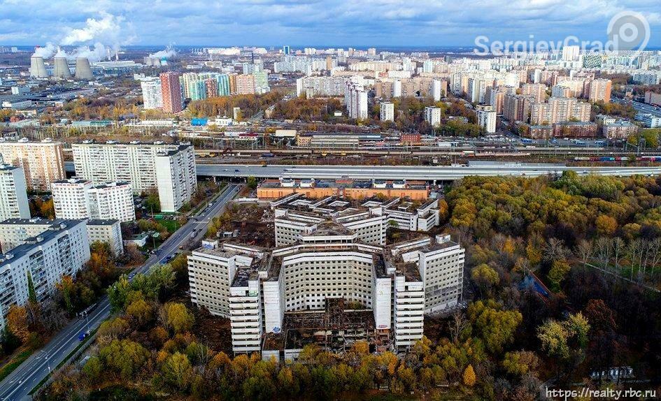 В Москве завершился снос Ховринской больницы