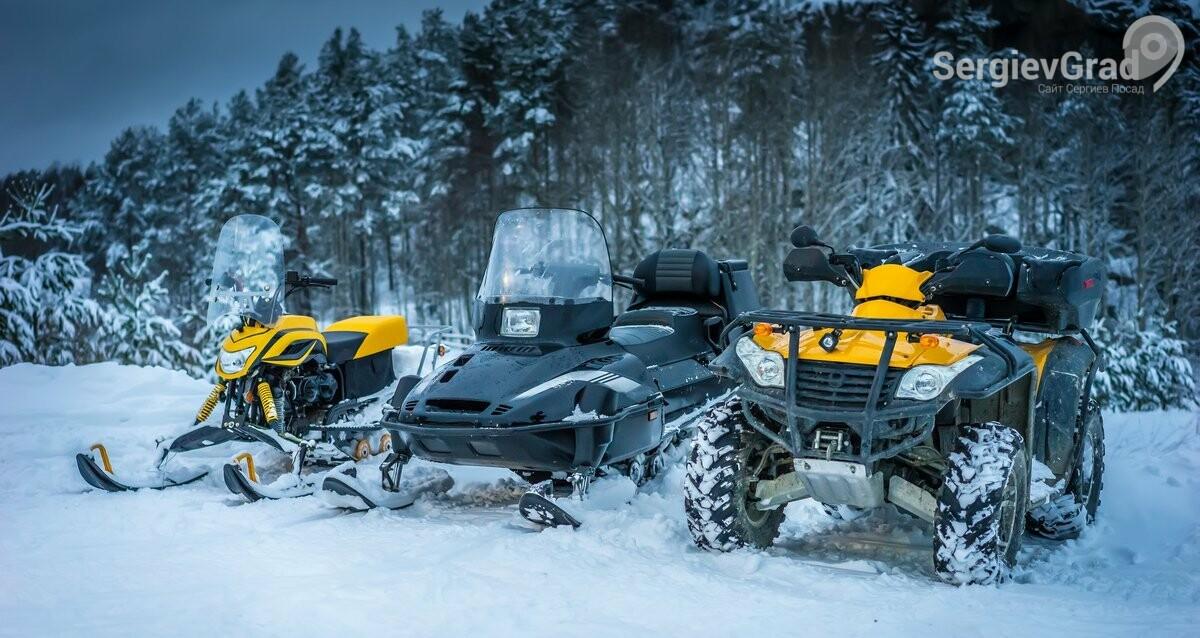 Катание на снегоходах и квадроциклах