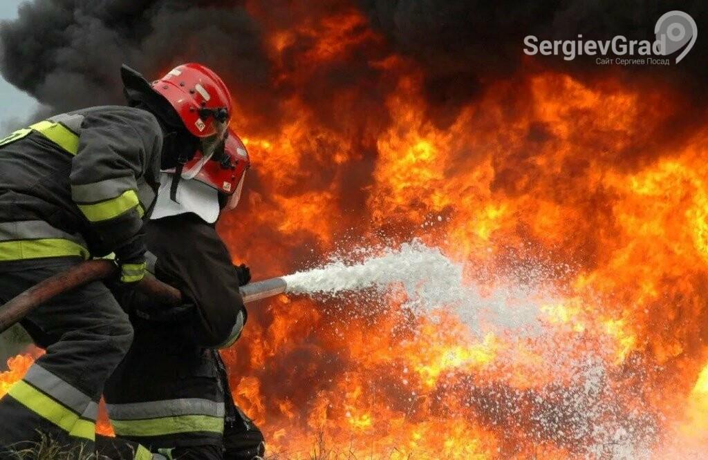 В Сергиево-Посадском городском округе произошёл пожар в селе Хомяково